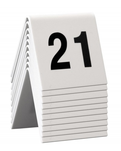 Numeri Da Tavolo Bianchi in Plastica 21-30 5x4 cm