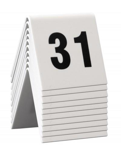 Numeri Da Tavolo Bianchi in Plastica 31-40 5x4 cm