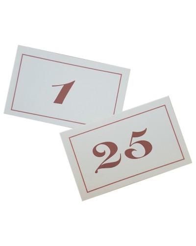 Numeri da Tavolo Doppi in Cartoncino da 1-25 Leone
