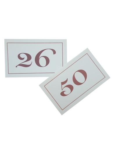 Numeri da Tavolo Doppi in Cartoncino da 26-50 Leone