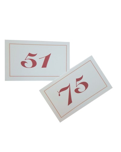Numeri da Tavolo Doppi in Cartoncino da 51-75 Leone