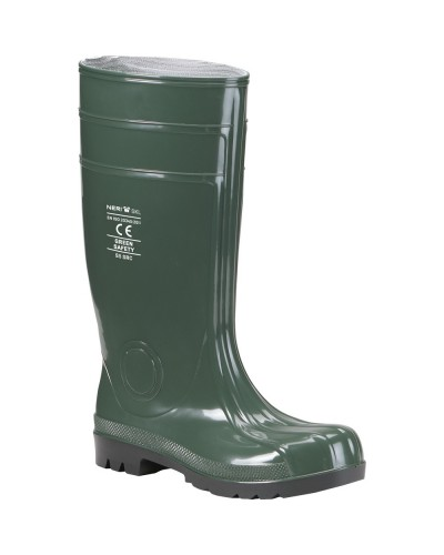 Stivale Green Safety Verde in PVC con Puntale S5 SRC N° 37-48 Neri