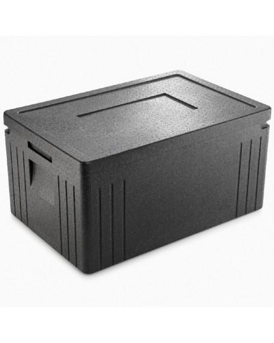 Box Termico Gn 1/1 Eco Line Nero per Cibo D'Asporto 60x40x30 cm Thermohauser