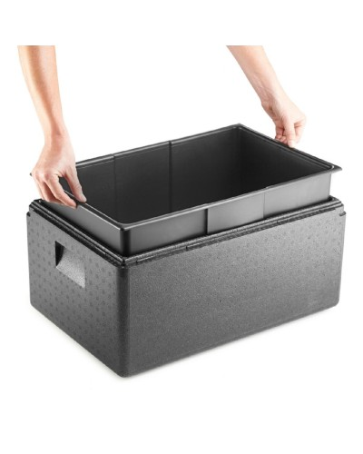 Box Termico GN 1/1 Inlay Nero c/Contenitore 60x40 cm Thermohauser