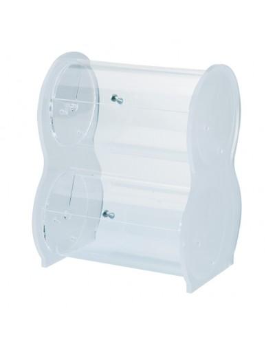 Porta Palette Doppio in Plexiglass Trasparente 27x22,5x34 cm Errenne