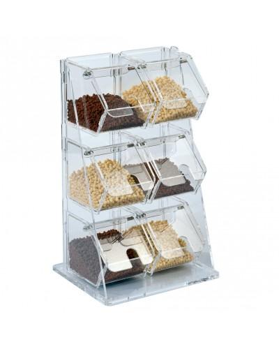Contenitore Porta Granelle in Plexiglass per Gelateria Errenne