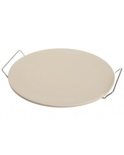 Pietra Cuocipizza Ceramica Ø 33 cm con Supporto in Metallo Eva