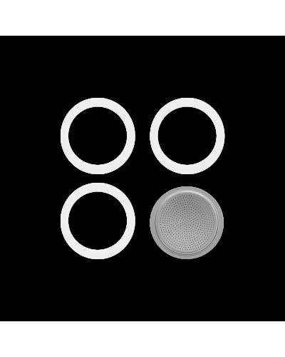 Set 3 Guarnizioni e Filtro per Moka Bialetti da 12 e 18 Tazze