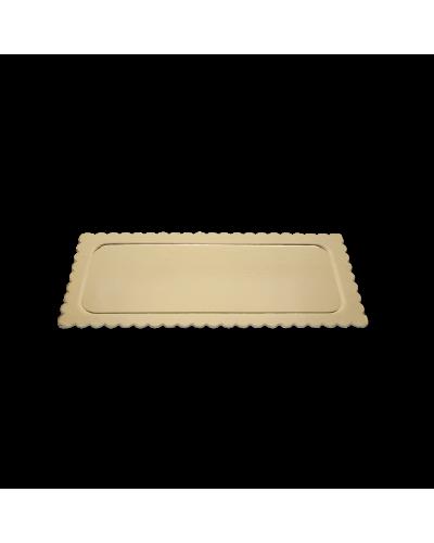 Piatto Ala Oro Rettangolare in Cartoncino da 1 kg