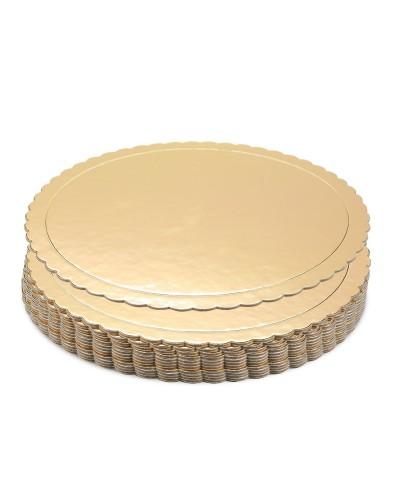 Piatto Ala Oro Tondo in Cartoncino da 1 kg Ø 22 - 36 cm