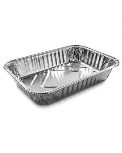 Vaschetta Alluminio 3 Porzioni Bordo G Bassa 117 pz
