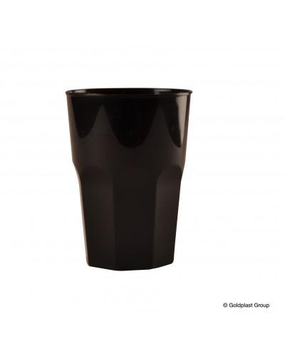 Bicchieri Ottagonali Neri in Polipropilene 350 cc 20 pz Gold Plast