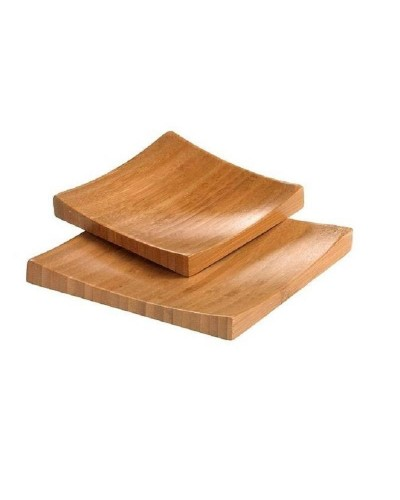 Set 2 Vassoi Sushi Bamboo Quadrato 16x16x1,9 cm Leone