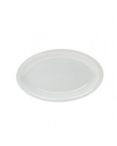 Piatto Roma Ovale Bianco in Porcellana 24 cm Saturnia