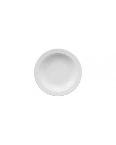Piatto Fondo Ameryka Bianco in Porcellana Ø 21 cm Lubiana