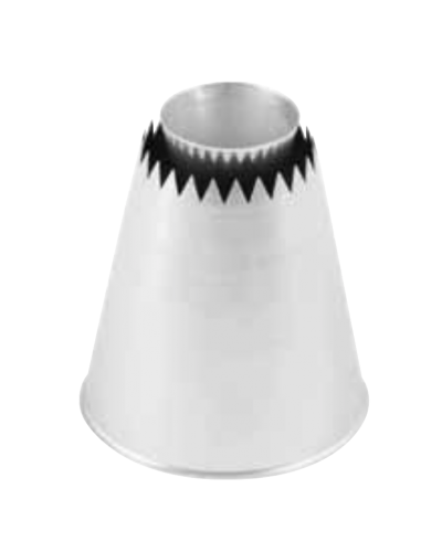 Bocchetta Acciaio Special Big Sultano Ø 31 mm h. 60 mm Martellato