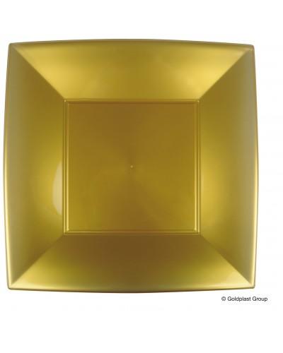 Sottopiatti Piani Nice Oro Quadrati 29x29 cm 12 pz Gold Plast
