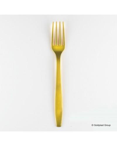 Forchetta Pesante Oro da 19 cm 50 pz Gold Plast