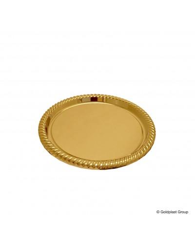Vassoio Deco Grande Oro Ø 34 cm 5 pz Gold Plast