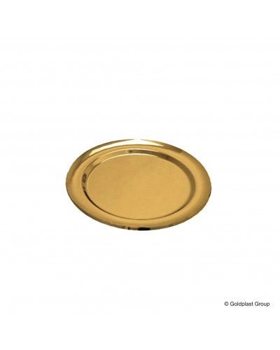 Vassoio Tondo Medio Oro 5 pz Gold Plast