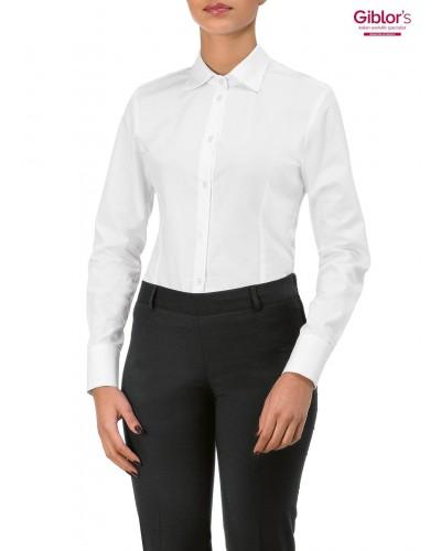 Camicia Donna Body Metka Bianca a Manica Lunga Giblor's