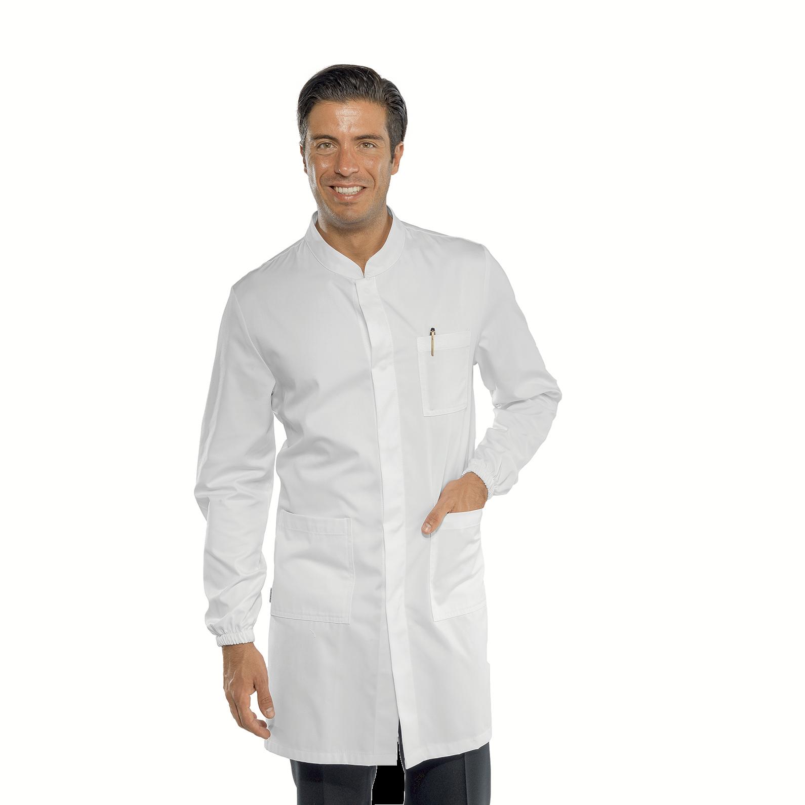 Manica Lunga Bottoni a pressione Bianco Isacco Camice Uomo 100/% Cotone M Isacco Bianco