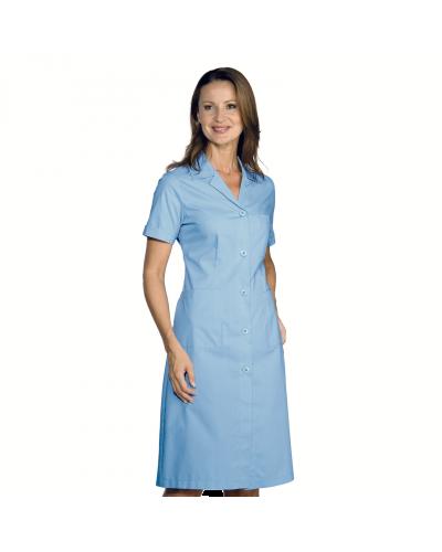 Camice Donna Azzurro a Manica Corta per Mensa e Pulizie Isacco