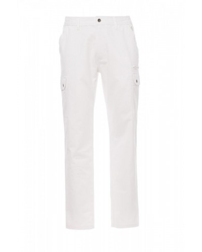 Pantalone Uomo Multitasche Forest Bianco Payper