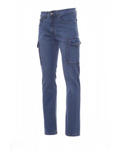 Pantalone Lavoro Uomo in Jeans Blu Elasticizzato Payper