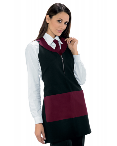 Grembiule Donna Madeira Bordeaux con Zip Isacco