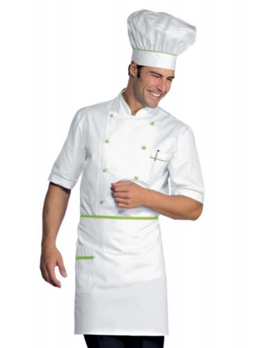 Grembiule Cuoco Vita Bianco e Verde 70x46 cm Isacco