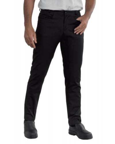 Pantalone Uomo Yale Slim Nero Super Stretch Isacco