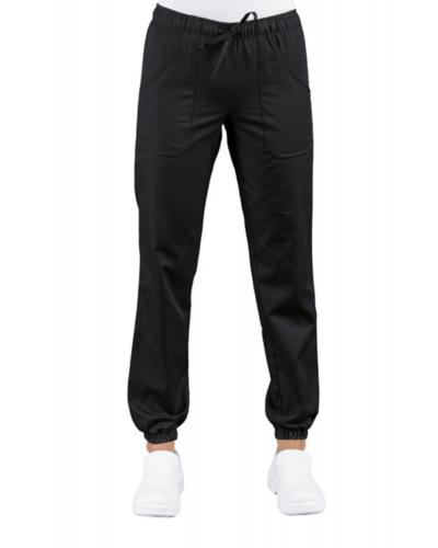 Pantalone Pantagiaffa Nero Super Stretch con Elastico Isacco
