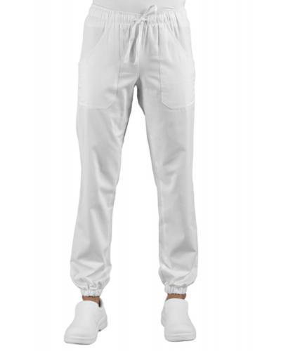 Pantalone Pantagiaffa Bianco Super Stretch con Elastico Isacco