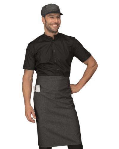 Grembiule Cameriere Dakar Black Jeans Nero 100x70 cm Isacco