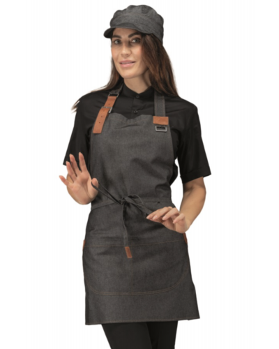 Grembiule Cameriere Kansas Black Jeans Nero Corto Isacco