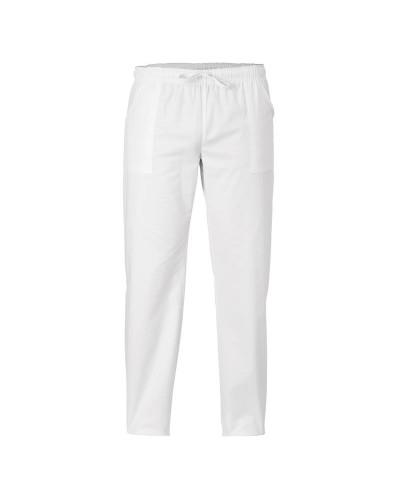 Pantalone Cuoco Unisex Alan Bianco con Elastico Giblor's