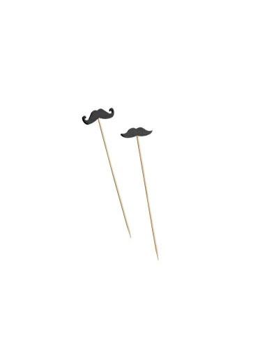 Spiedi Mustache Bamboo 12 cm 100 pz
