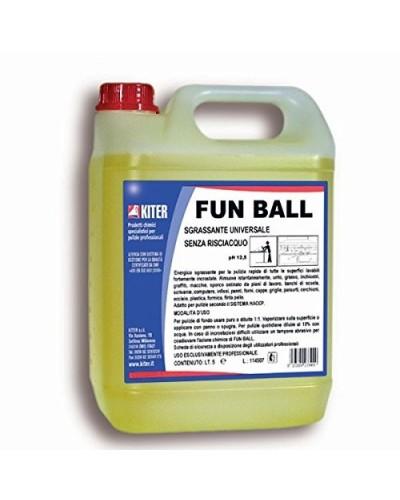 Detergente Sgrassante Tecnico Superattivo Funball 5 lt Kiter
