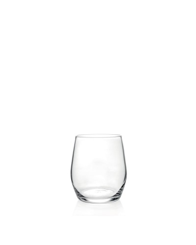 Set 6 Bicchieri Vetro Wine Drop Dof 36 cl per Acqua e Vino RCR