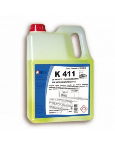 Detergente Lavastoviglie Clorattivo K 411 3 lt Kiter