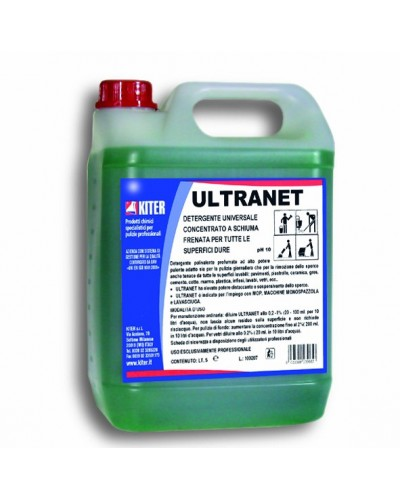 Detergente Sgrassante Pavimenti Ammoniacale Ultranet 5 lt Kiter