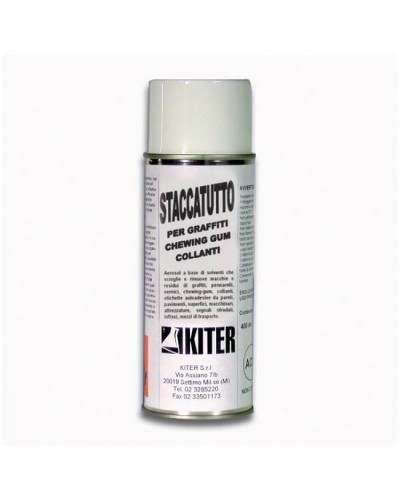 Staccatutto Spray 400 ml Rimozione Macchie Graffiti Chewing-gum Kiter