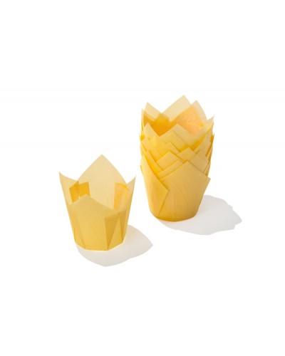 Pirottini Muffin Tulip in Carta Forno Gialli 5x5x7,2 cm 120 pz Ica