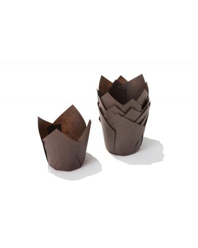 Pirottini Muffin Tulip in Carta Forno Caffè 5x5x7,2 cm 120 pz Ica