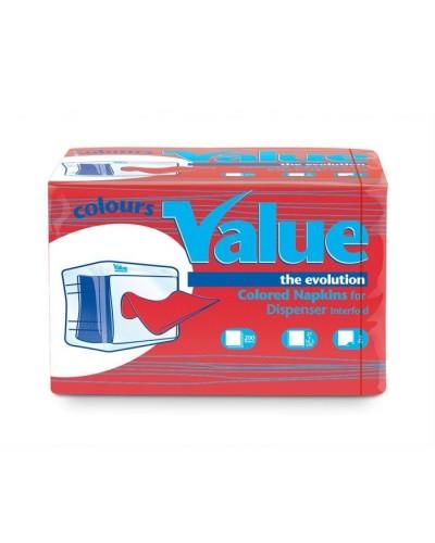 Tovagliolo Intercalato Value Rosso Cherry 21x16 cm 6000 pz Carind