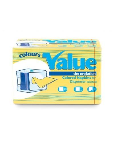 Tovagliolo Intercalato Value Giallo Lemon 21x16 cm 6000 pz Carind