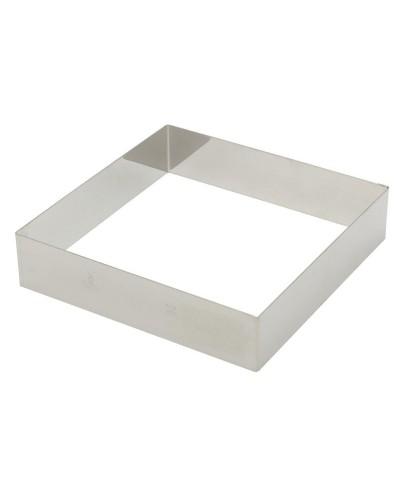 Cornice Dolci e Mousse Quadrata Acciaio Inox 20x20 h. 4,5 cm Paderno