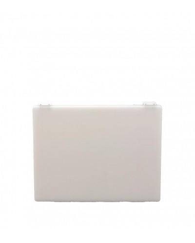 Tagliere Bianco Con Fermi 70x40x2 cm in Polietilene