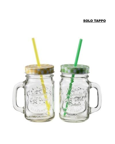 Tappo per Bicchiere Cocktail Jar da 450 ml